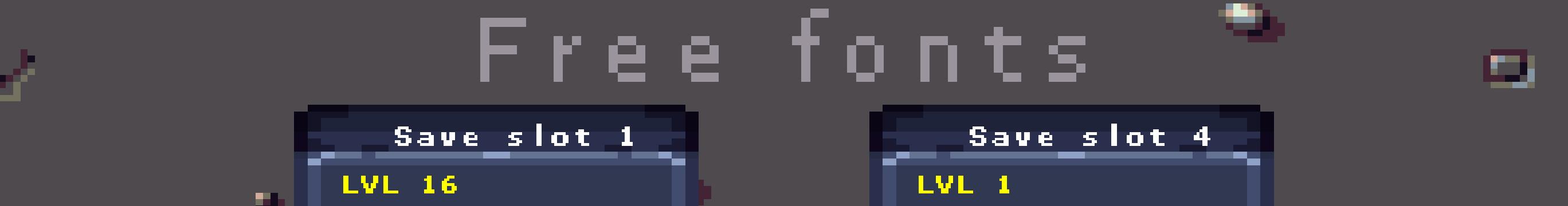 Pixel bitmap fonts - Free