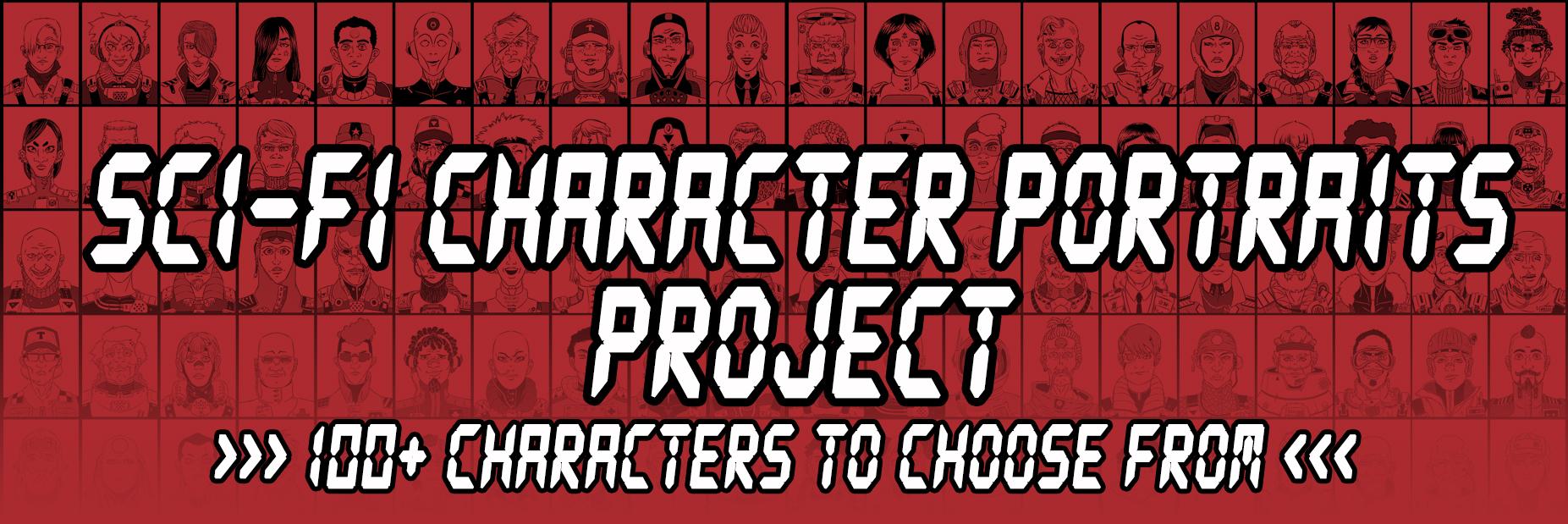Sci-fi character portraits project