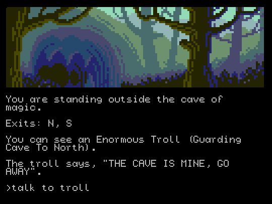 Cave of Magic (running on a ZX Spectrum Next)