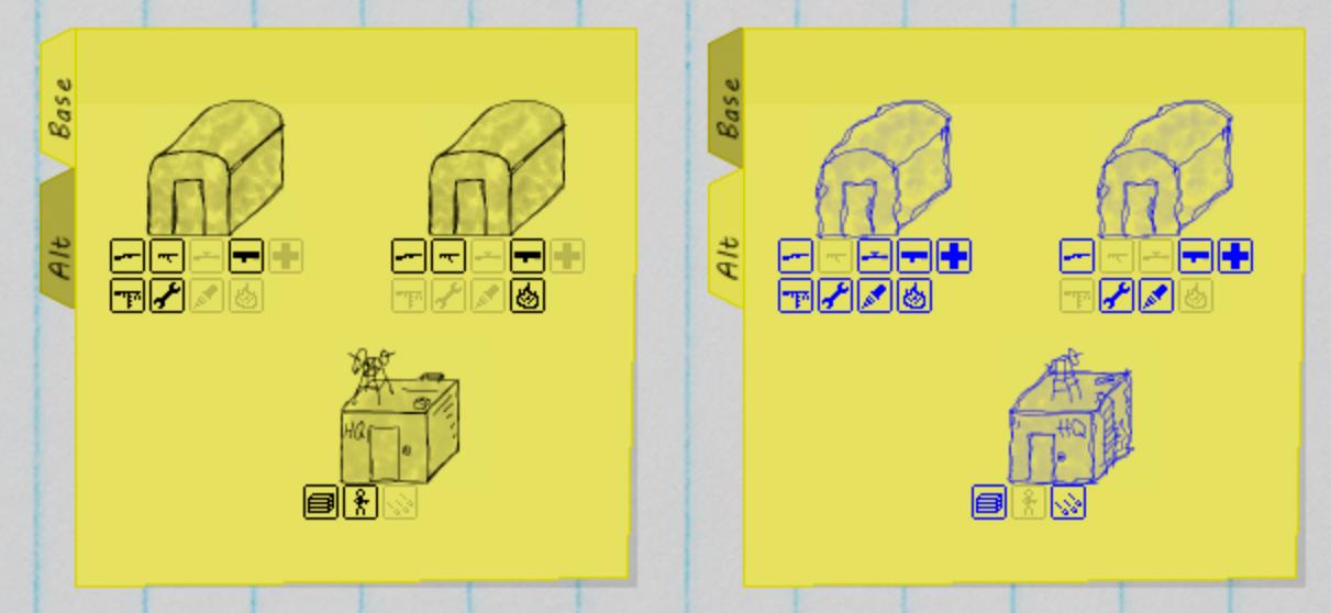 Quick Battle alternate set tabs