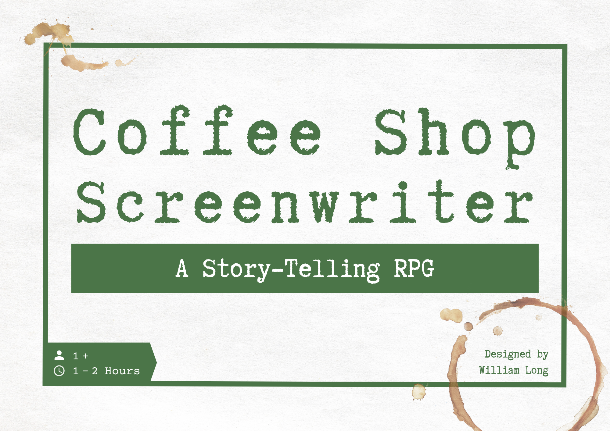 Coffee Shop Screenwriter