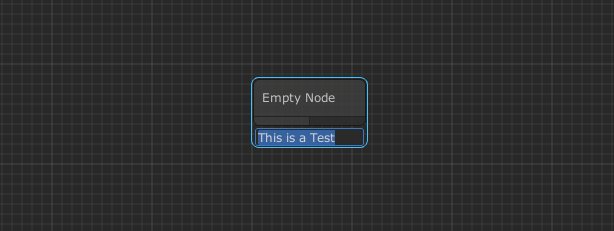 The baisc node class from unity, combined with the textfield example.