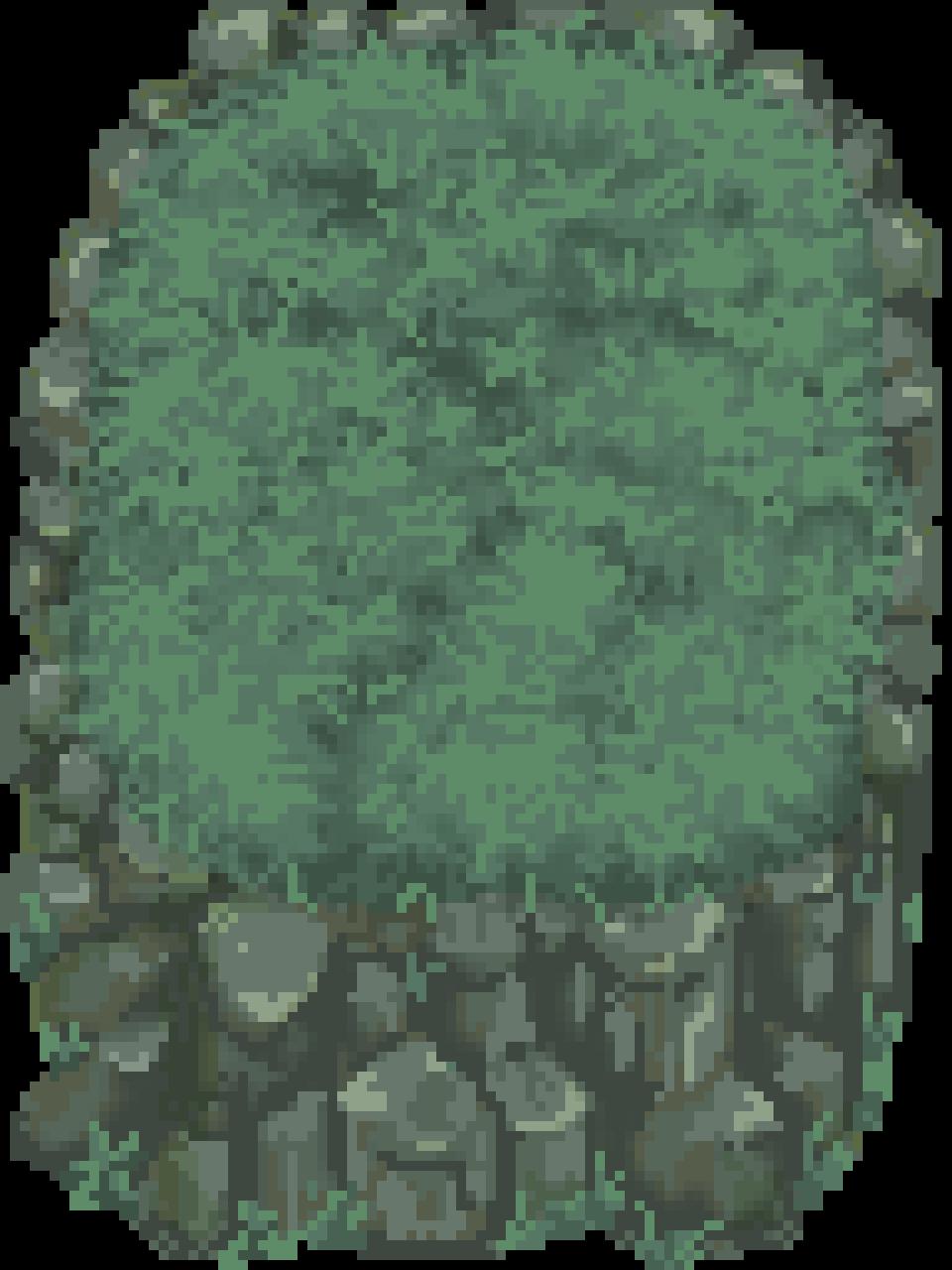 Grassy Rock Outcrop Tileset