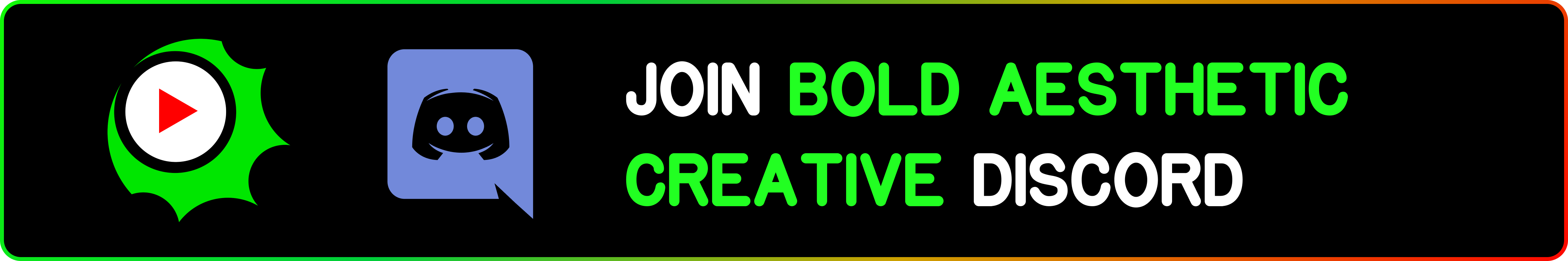 Bold Aesthetic Creative Discord