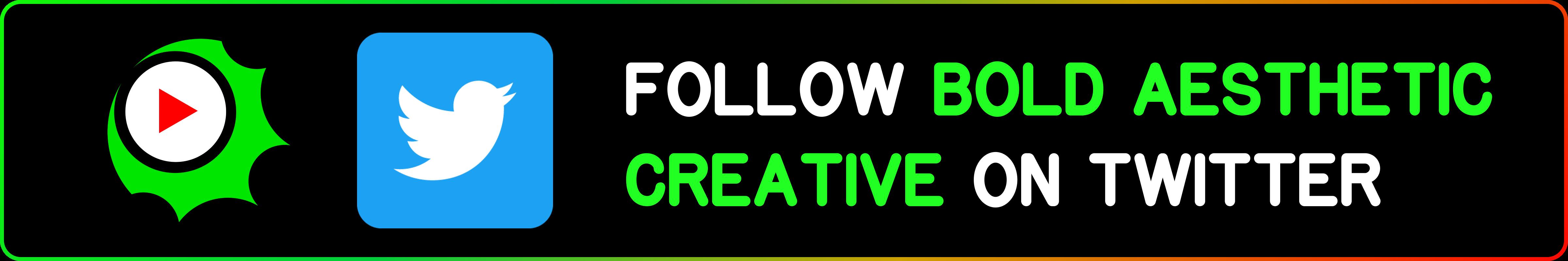 Bold Aesthetic Creative Twitter