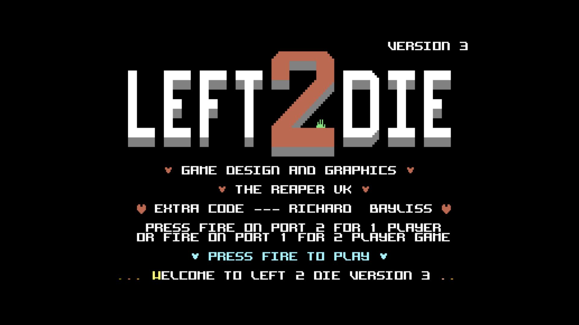 Left 2 Die (C64)