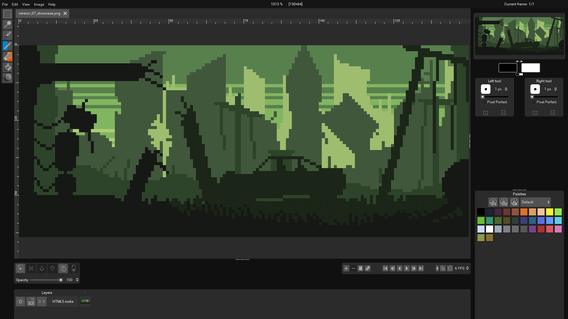 Pixelorama running on a browser!
