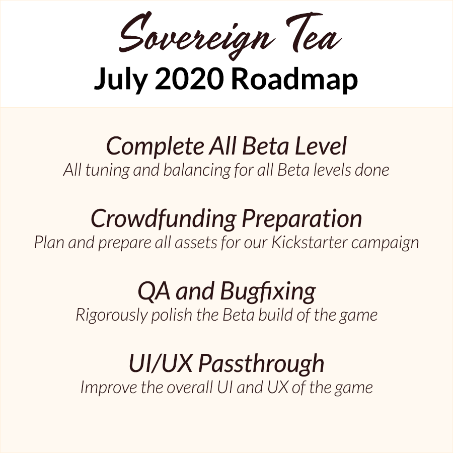 July 2020 Roadmap