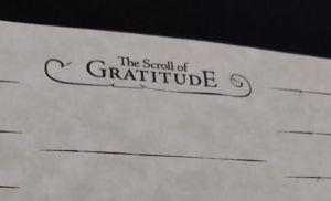 The Secret Scroll of Gratitude