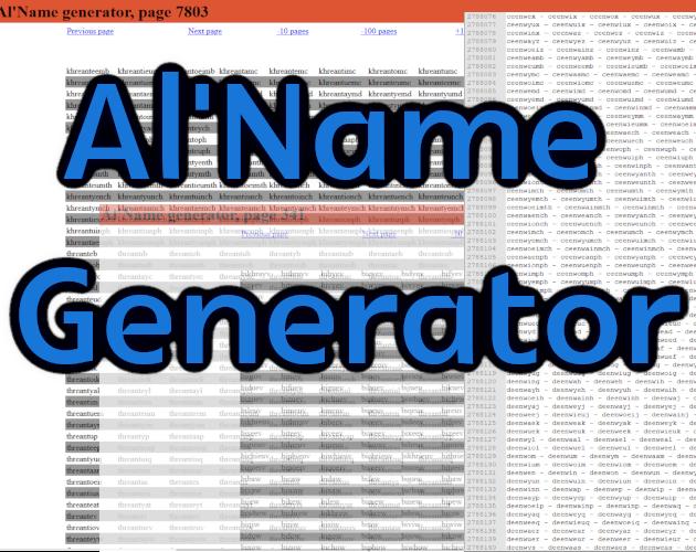Al'Name Generator