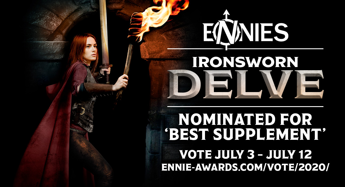 Ironsworn: Delve Nominated for a 2020 ENNIE Award