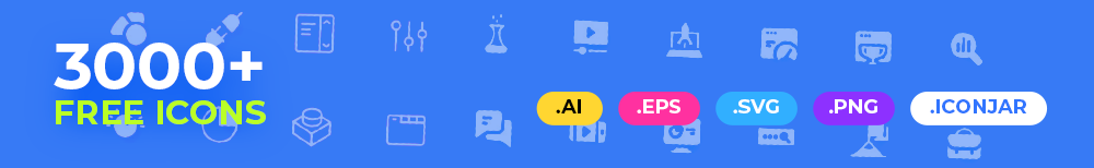 3000+ Free Icons