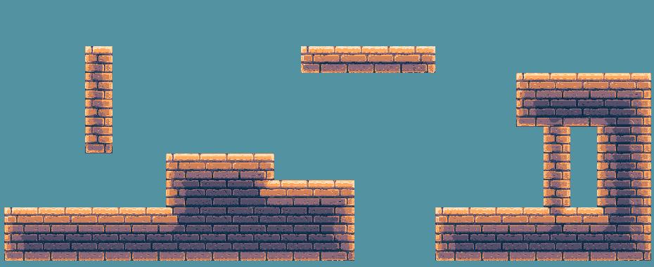 Free Pixelart Tileset Dungeon 64x64  - 4 versions