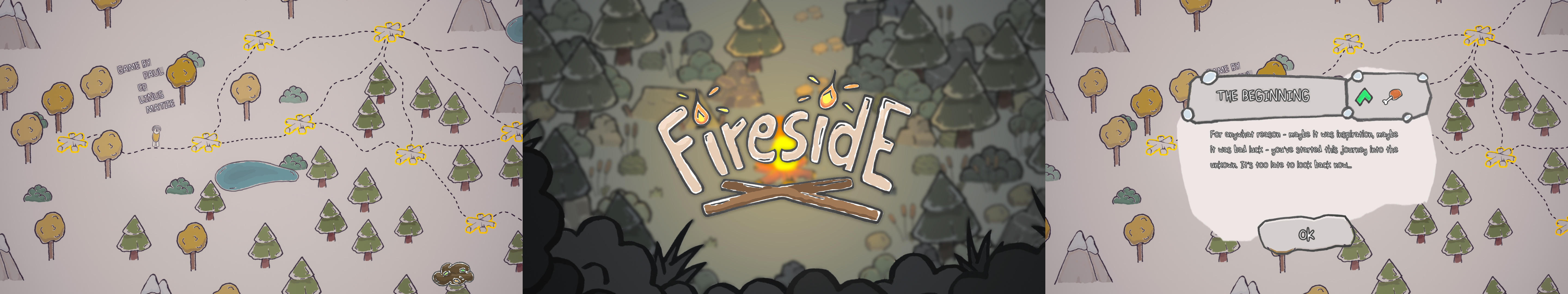 Screenshots of Fireside