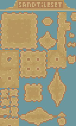 Pixel art sand tileset