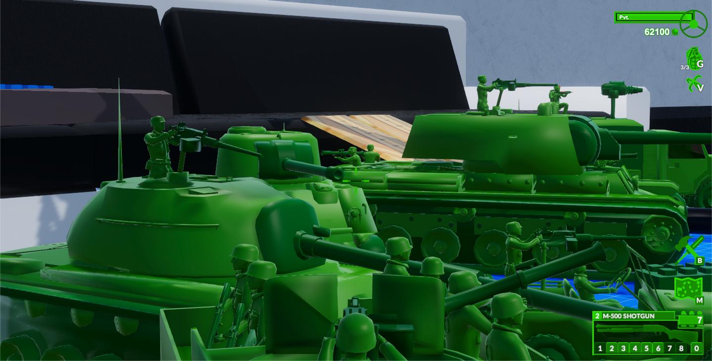 M3 Half-Track Aim View + Plastic Toy Army Men Squad