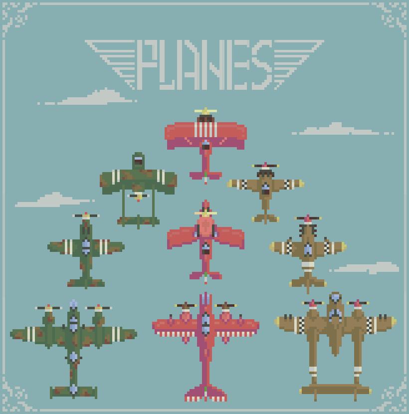 Pixel art planes