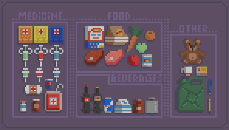 Pixel art items part 1