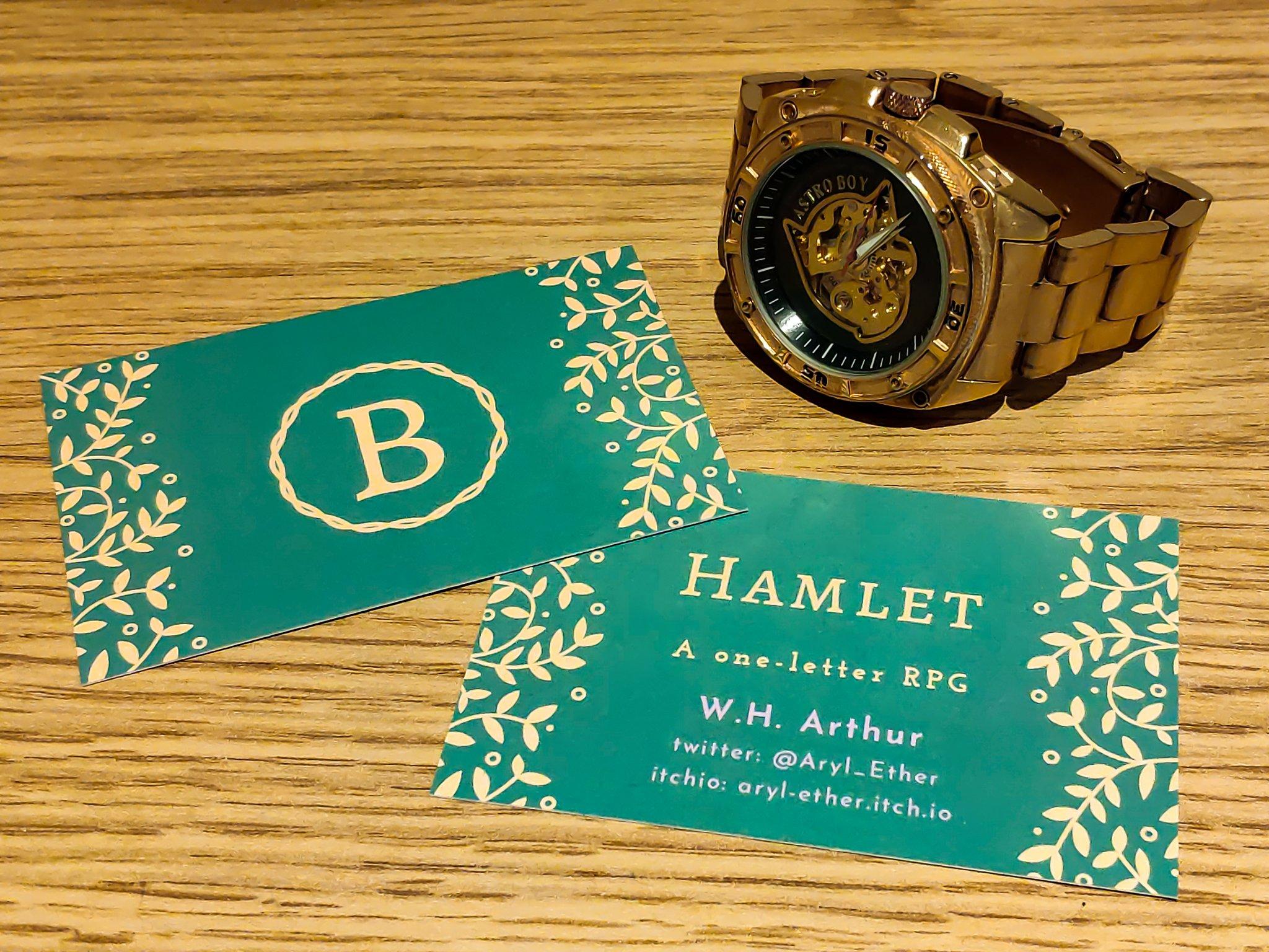 Hamlet: A one-letter RPG