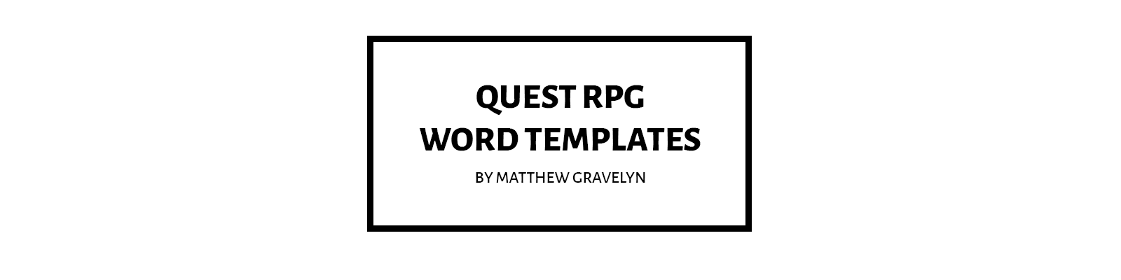Quest RPG Templates for MS Word