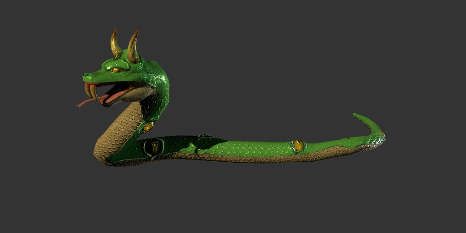 Animated  Cartoon Fantasy Snake Pack