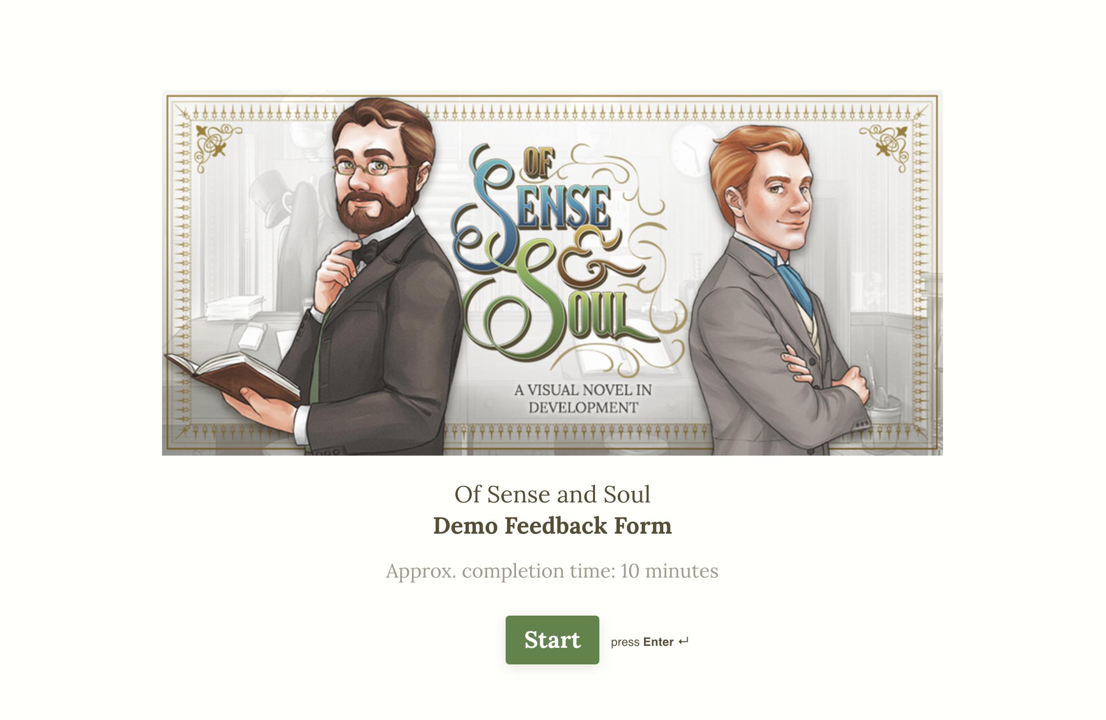 Screenshot of OSAS Demo Feedback Form