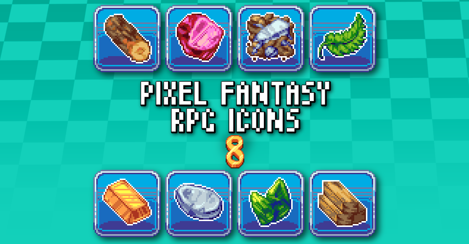 PIXEL FANTASY RPG ICONS - PACK 8