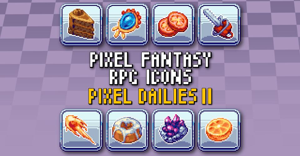 PIXEL FANTASY RPG ICONS - Pixel Dailies 2