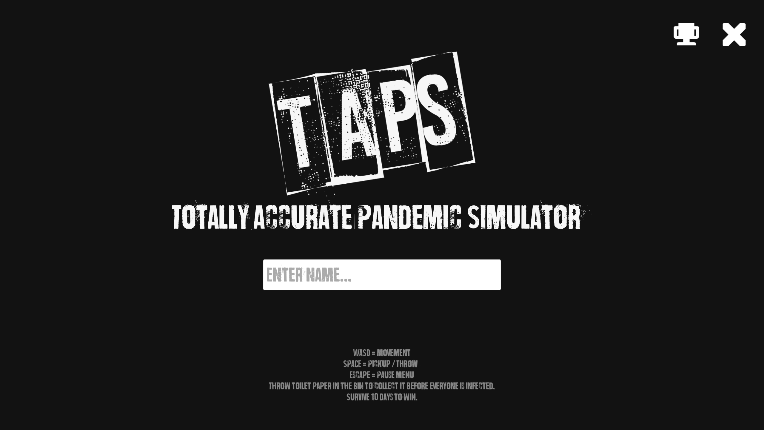 Update 4 Wip Leader Boards Scoring System Taps Totally Accurate Pandemic Simulator By Black Dog Serenade