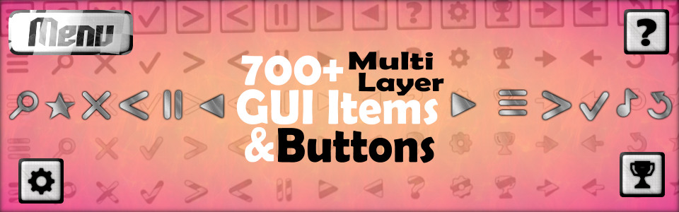 GUI Items + Buttons (700+ Multi-layer Items)