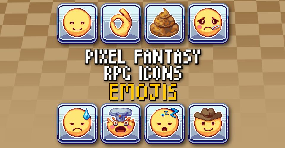 PIXEL FANTASY RPG ICONS - Emojis