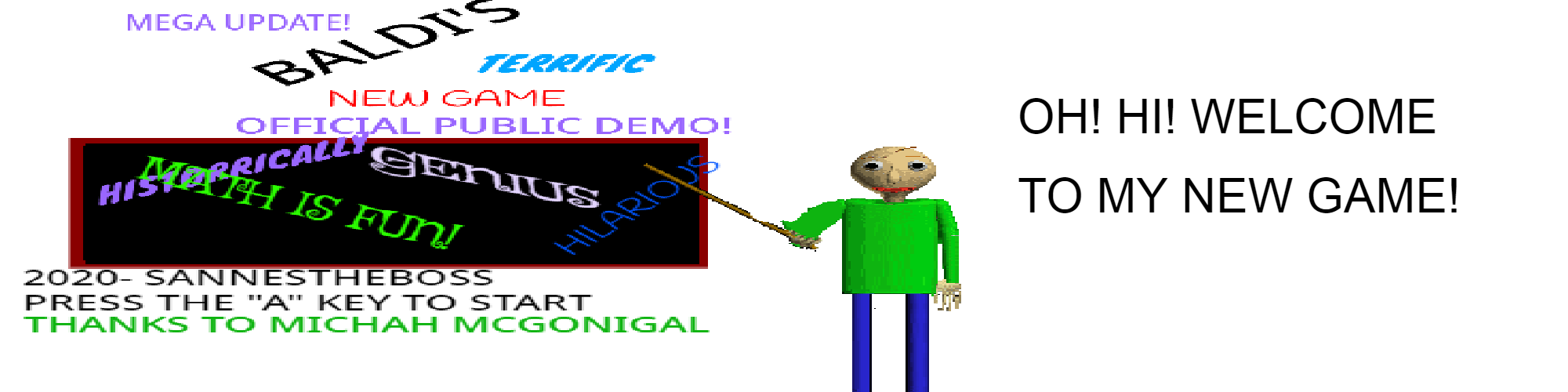 Baldi's Terrific New Game DEMO!