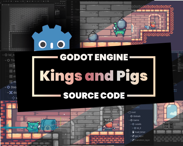 Kings and Pigs - Source Godot Code