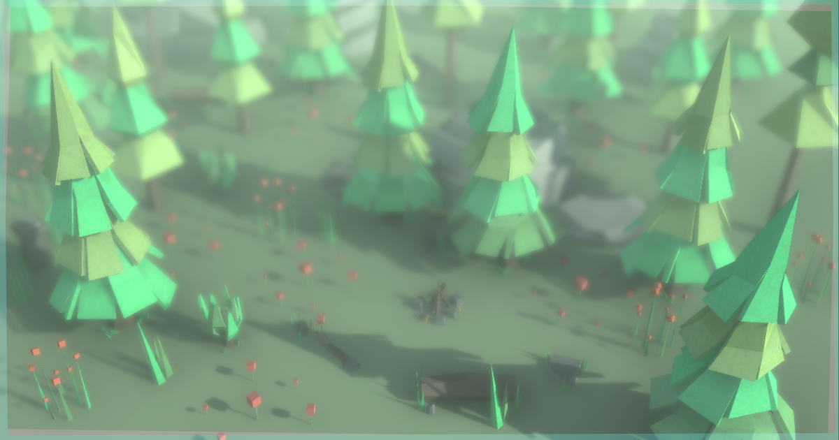 Low-Poly Style Nature