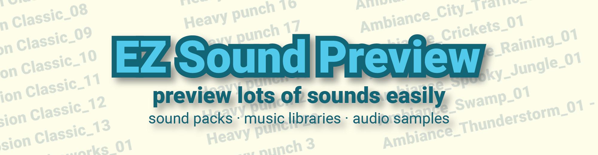 EZ Sound Preview