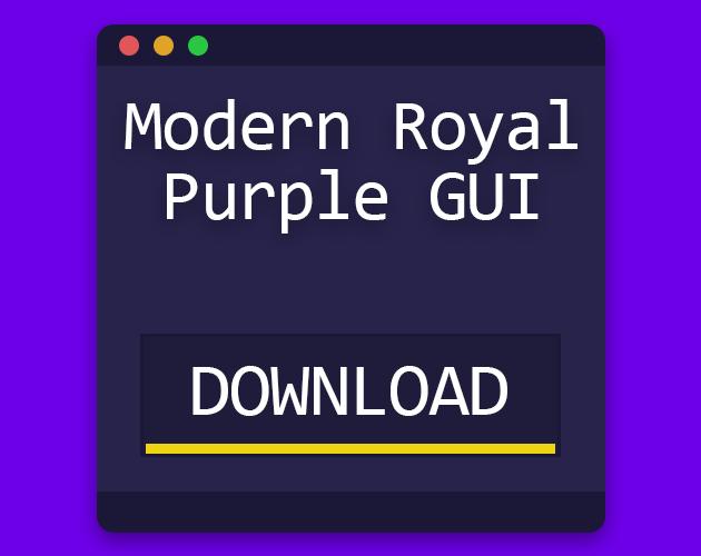 Modern Royal Purple GUI