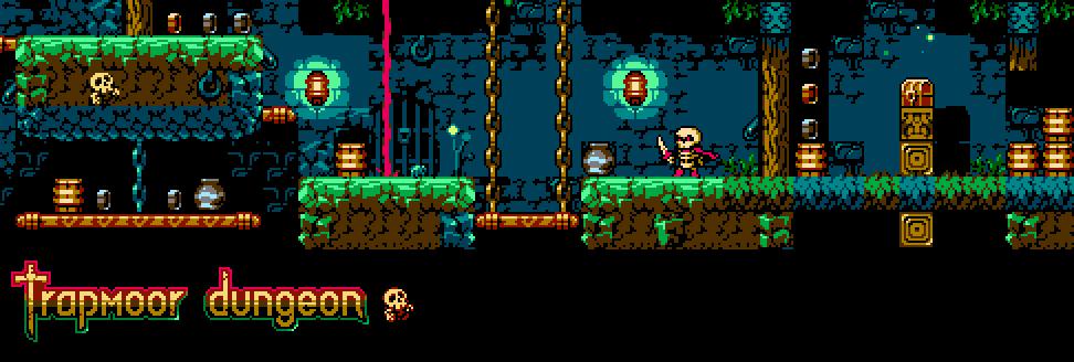 Trapmoor dungeon platformer tileset