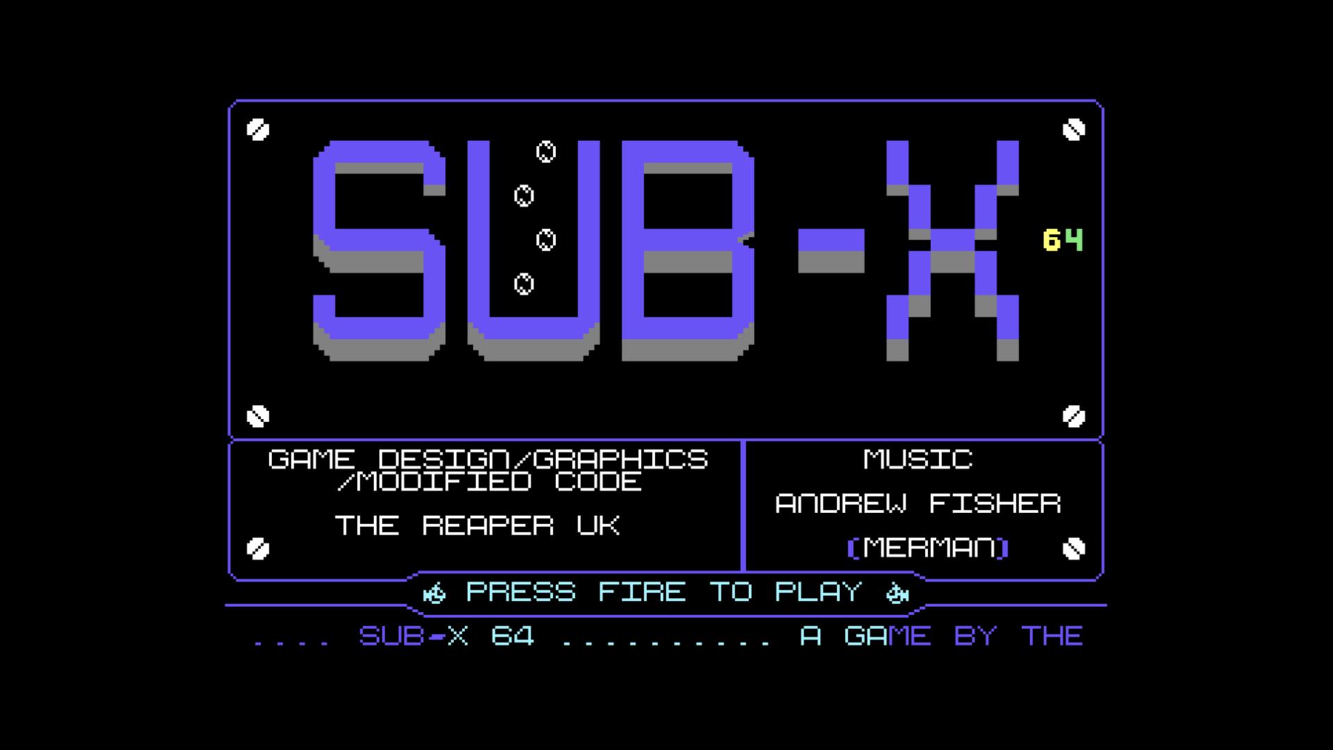 SUB-X 64 (C64)