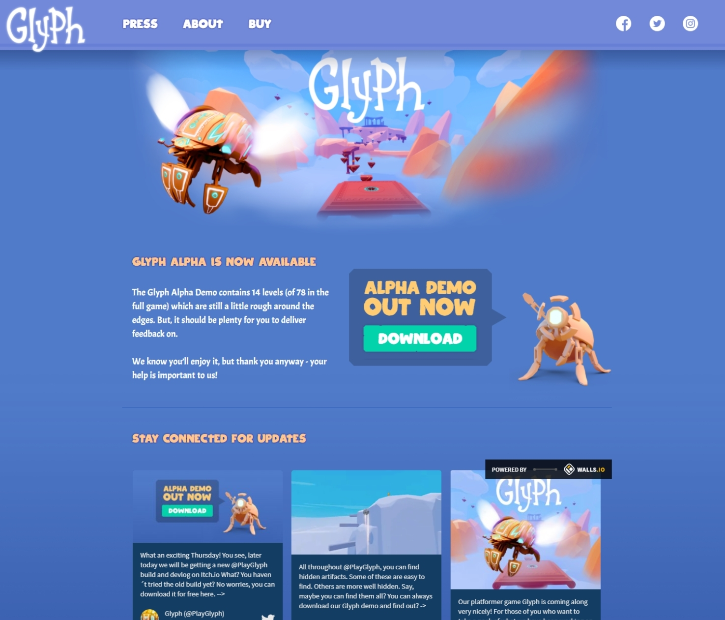 Glyph - New landing page