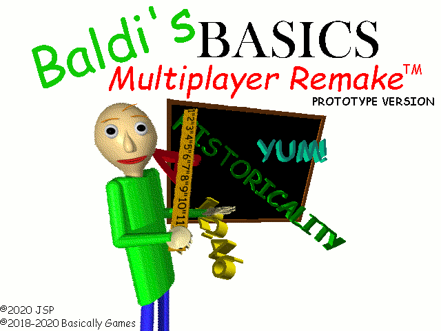 Baldi's Basics Multiplayer Remake Prototype