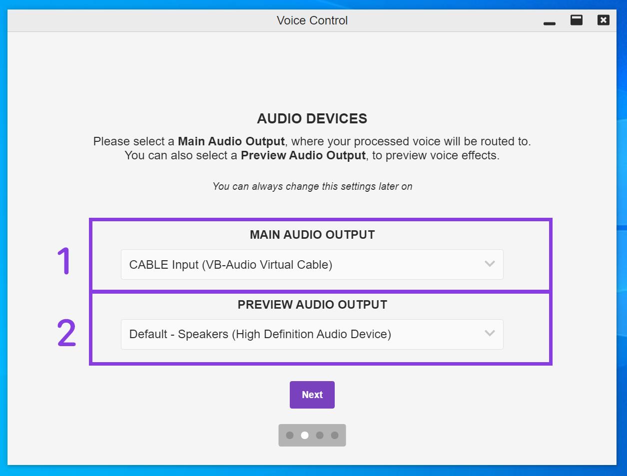 Audio Devices Setup