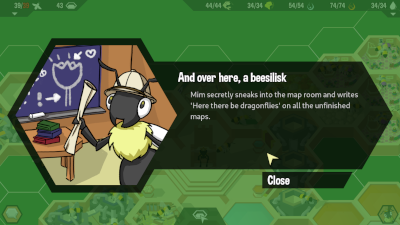 A screenshot of the 'And over here, a beesilisk' vignette.