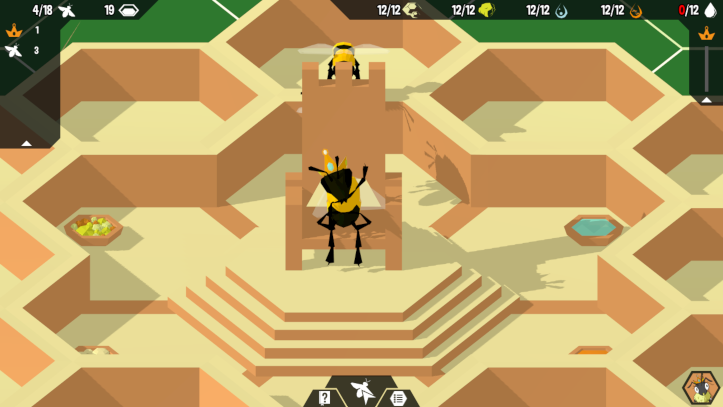 A screenshot of a Queen bee waving at the camera.