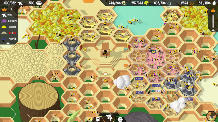 A screenshot of a busy hive.