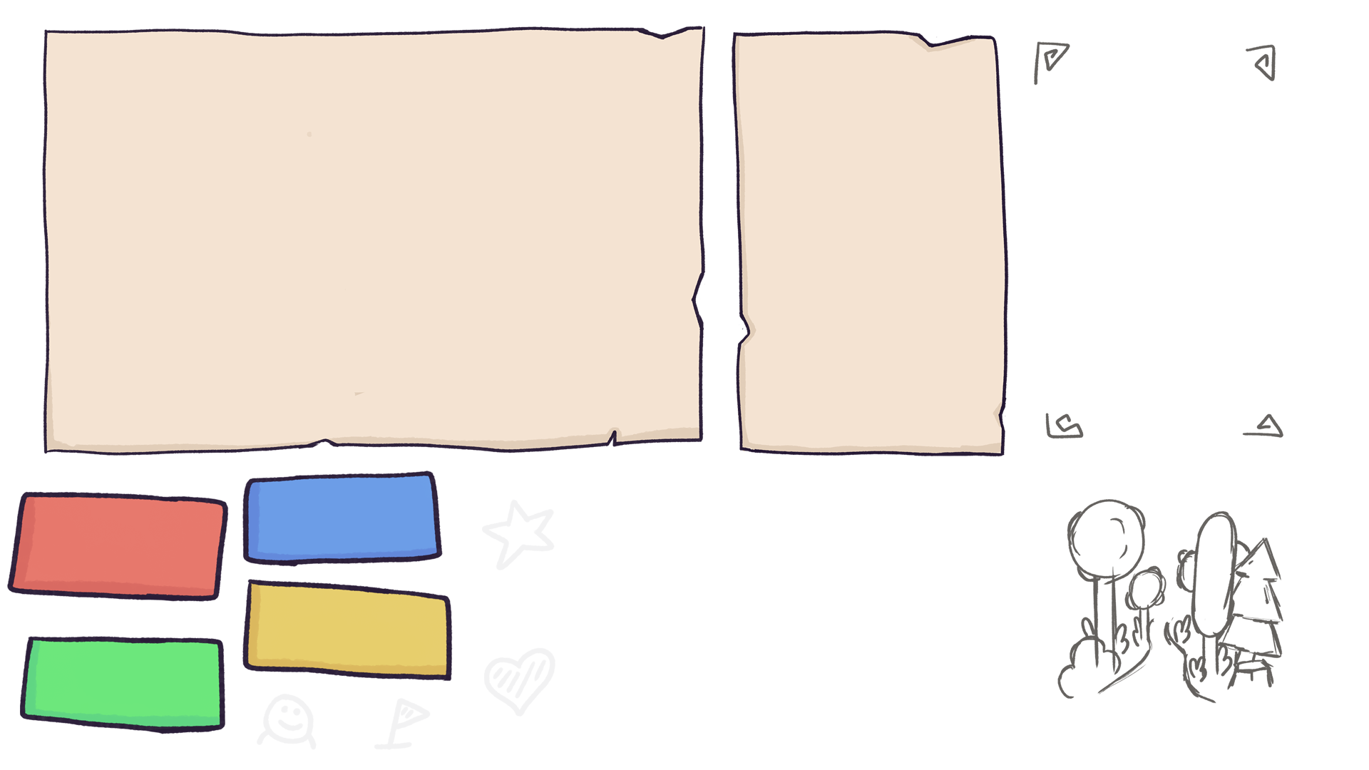Single elements of the player´s notebook