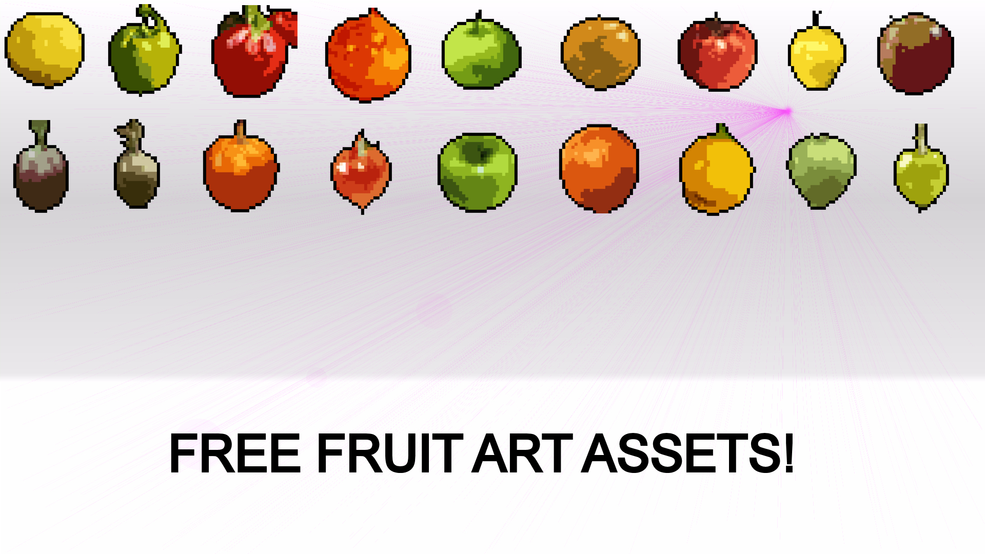 Free Pixel Art Fruit Assets