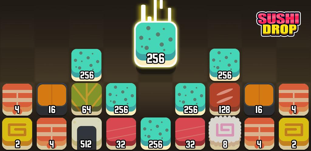 Sushi Drop (Merge Puzzle)