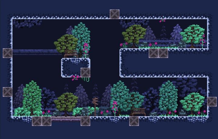 16x16 Tileset for sidescroller, platformer game