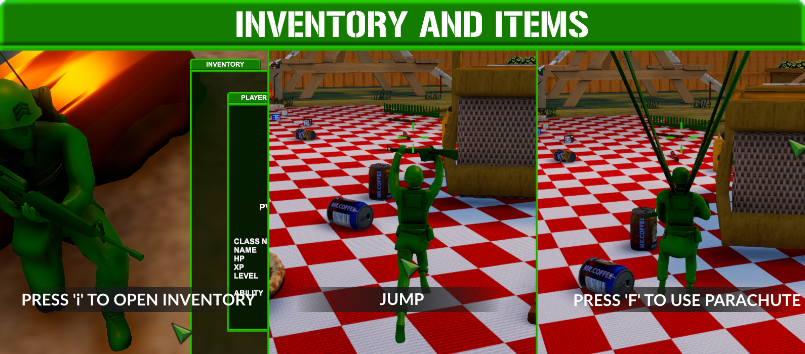 Attack on Toys Inventory & Items