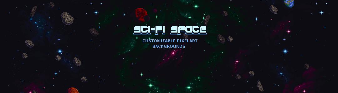 Sci-Fi Space - Customizable Pixelart Backgrounds
